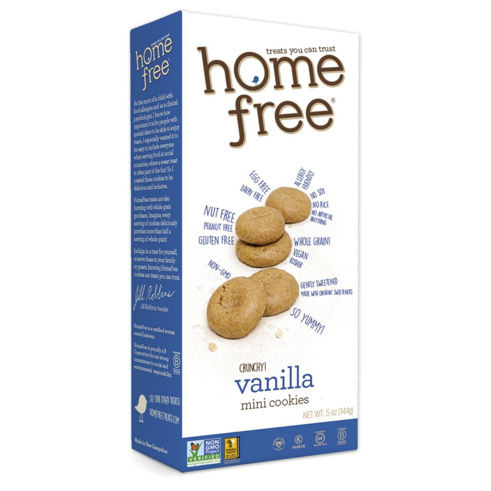 Homefree Chips, Pretzels & Popcorn Homefree Gluten Free Vanilla Mini Cookies - 5 Oz - Case Of 6