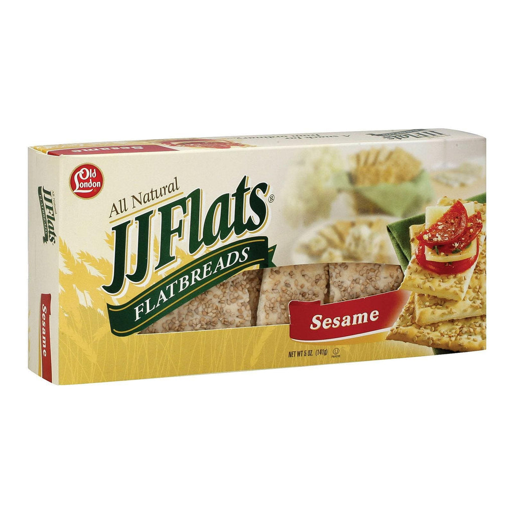 Jj Flats Crackers & Crispbreads Jj Flats Flatbread - Sesame - Case Of 12 - 5 Oz.