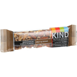 Kind Energy Bars & Snacks Kind Bar - Madagascar Vanilla Almond - 1.4 Oz Bars - Case Of 12