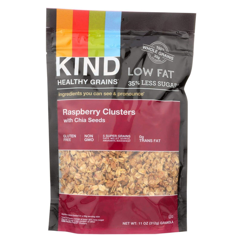 Kind Nuts, Seeds & Granola Kind Clusters - Granola - Healthy Grains - Raspberry With Chia Seeds - 11 Oz - Case Of 6