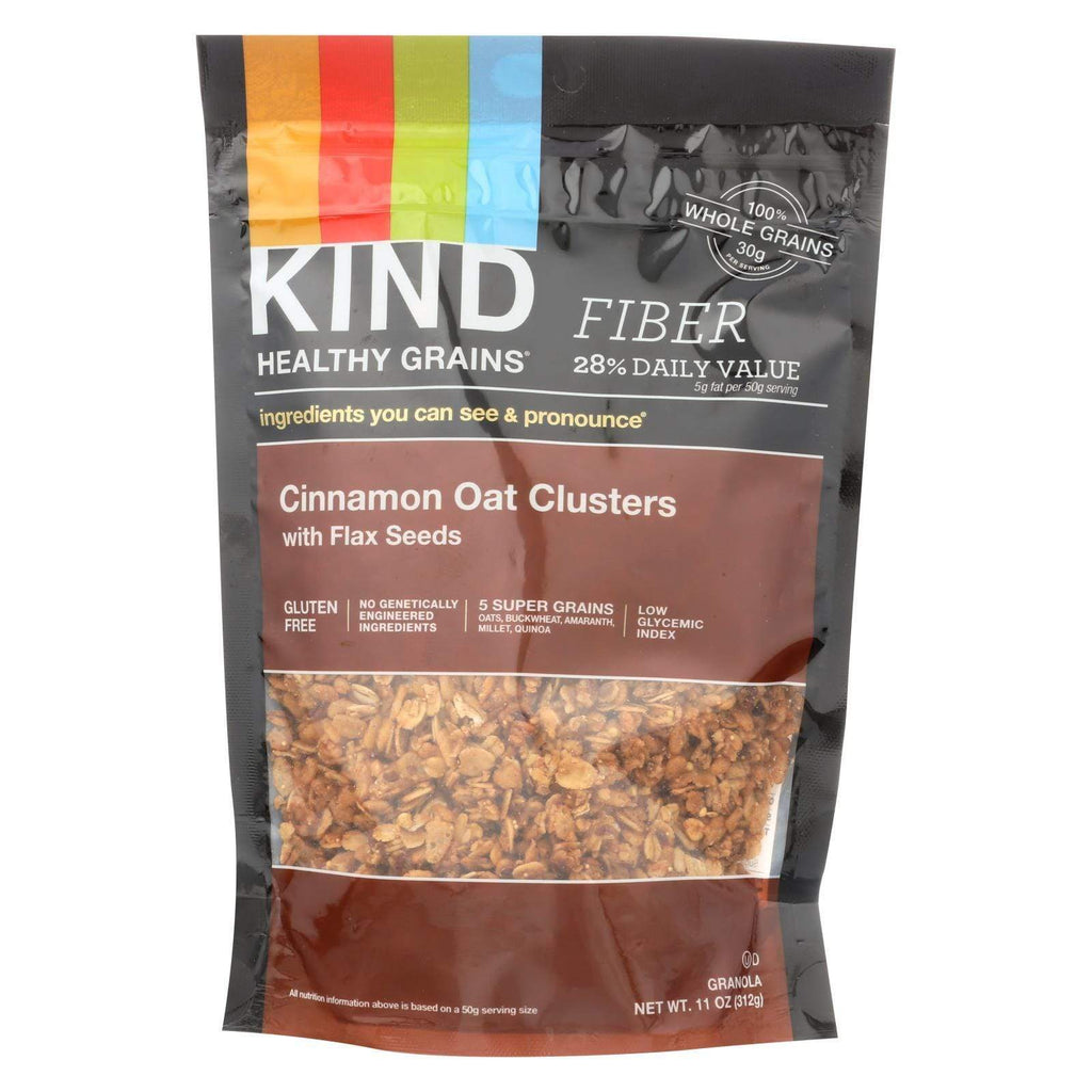 Kind Nuts, Seeds & Granola Kind Healthy Grains Cinnamon Oat Clusters With Flax Seeds - 11 Oz - Case Of 6