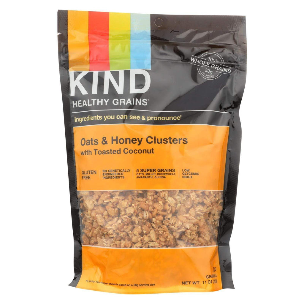 Kind Nuts, Seeds & Granola Kind Healthy Grains Oats And Honey Clusters With Toasted Coconut - 11 Oz - Case Of 6