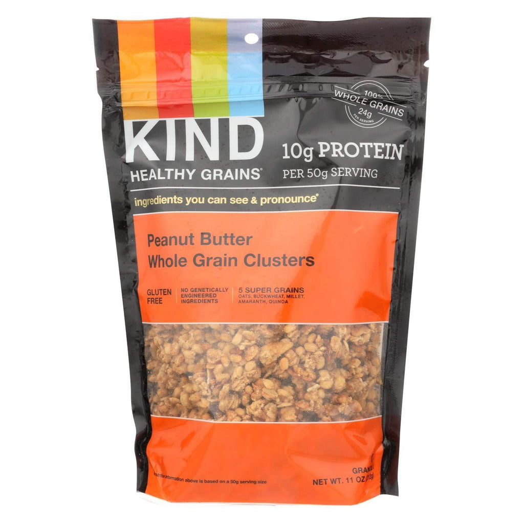 Kind Nuts, Seeds & Granola Kind Healthy Grains Peanut Butter Whole Grain Clusters - 11 Oz - Case Of 6