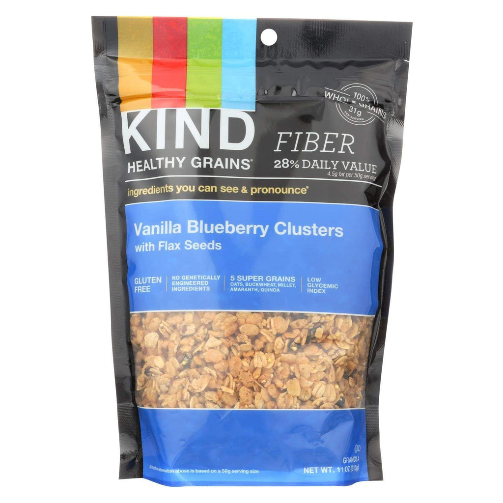 Kind Nuts, Seeds & Granola Kind Healthy Grains Vanilla Blueberry Clusters With Flax Seeds - 11 Oz - Case Of 6
