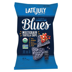 Late July Snacks Chips, Pretzels & Popcorn Late July Snacks Organic Multigrain Snack Chips - Summertime Blues - Case Of 12 - 5.5 Oz.