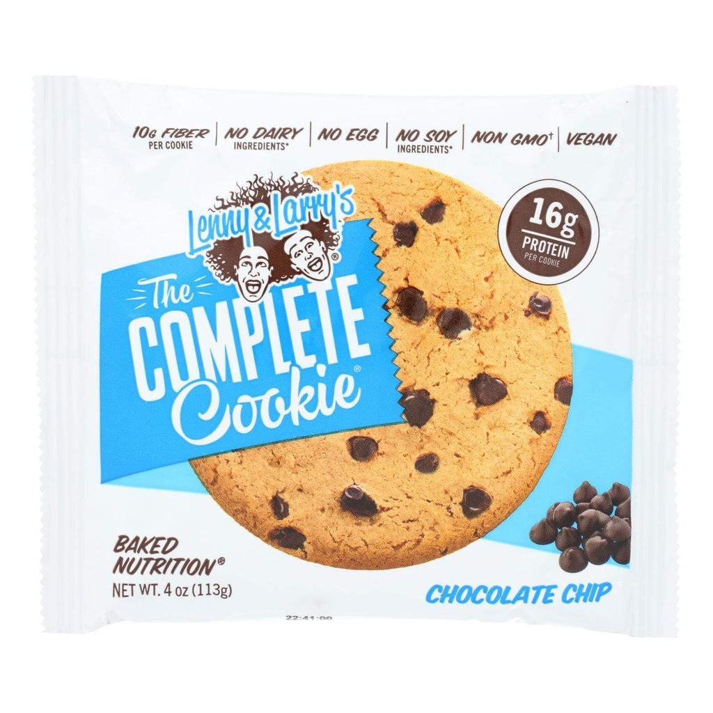 Lenny And Larry's Cookies & Pastries Lenny And Larry's The Complete Cookie - Chocolate Chip - 4 Oz - Case Of 12