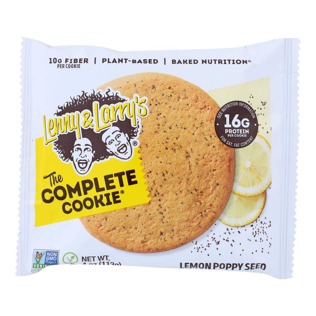 Lenny And Larry's Cookies & Pastries Lenny And Larry's The Complete Cookie - Lemon Poppyseed - 4 Oz - Case Of 12
