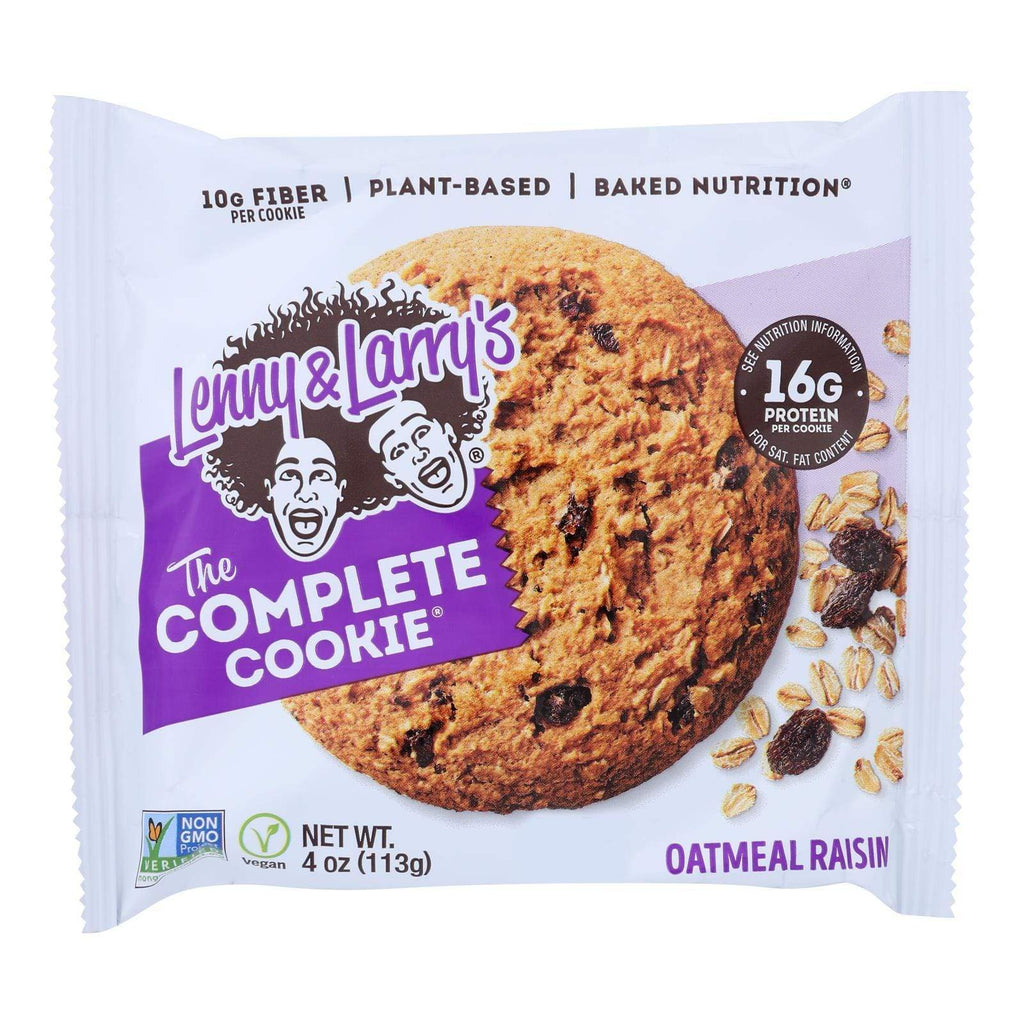 Lenny And Larry's Cookies & Pastries Lenny And Larry's The Complete Cookie - Oatmeal Raisin - 4 Oz - Case Of 12