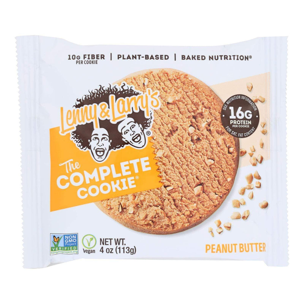 Lenny And Larry's Cookies & Pastries Lenny And Larry's The Complete Cookie - Peanut Butter - 4 Oz - Case Of 12