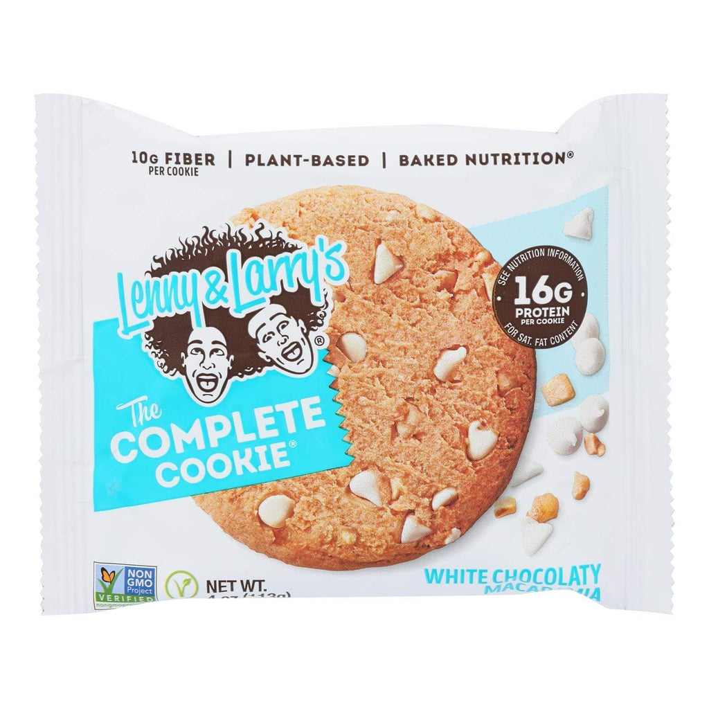 Lenny And Larry's Cookies & Pastries Lenny And Larry's The Complete Cookie - White Chocolate Macadamia - 4 Oz - Case Of 12
