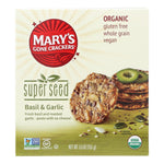 Mary's Gone Crackers Crackers & Crispbreads Mary's Gone Crackers Super Seed - Basil & Garlic - Case Of 6 - 5.5 Oz. High in protein and provides energy boost.