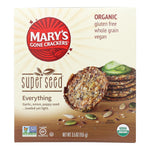 Mary's Gone Crackers Crackers & Crispbreads Mary's Gone Crackers Super Seed - Everything - Case Of 6 - 5.5 Oz. High in protein and provides energy boost.