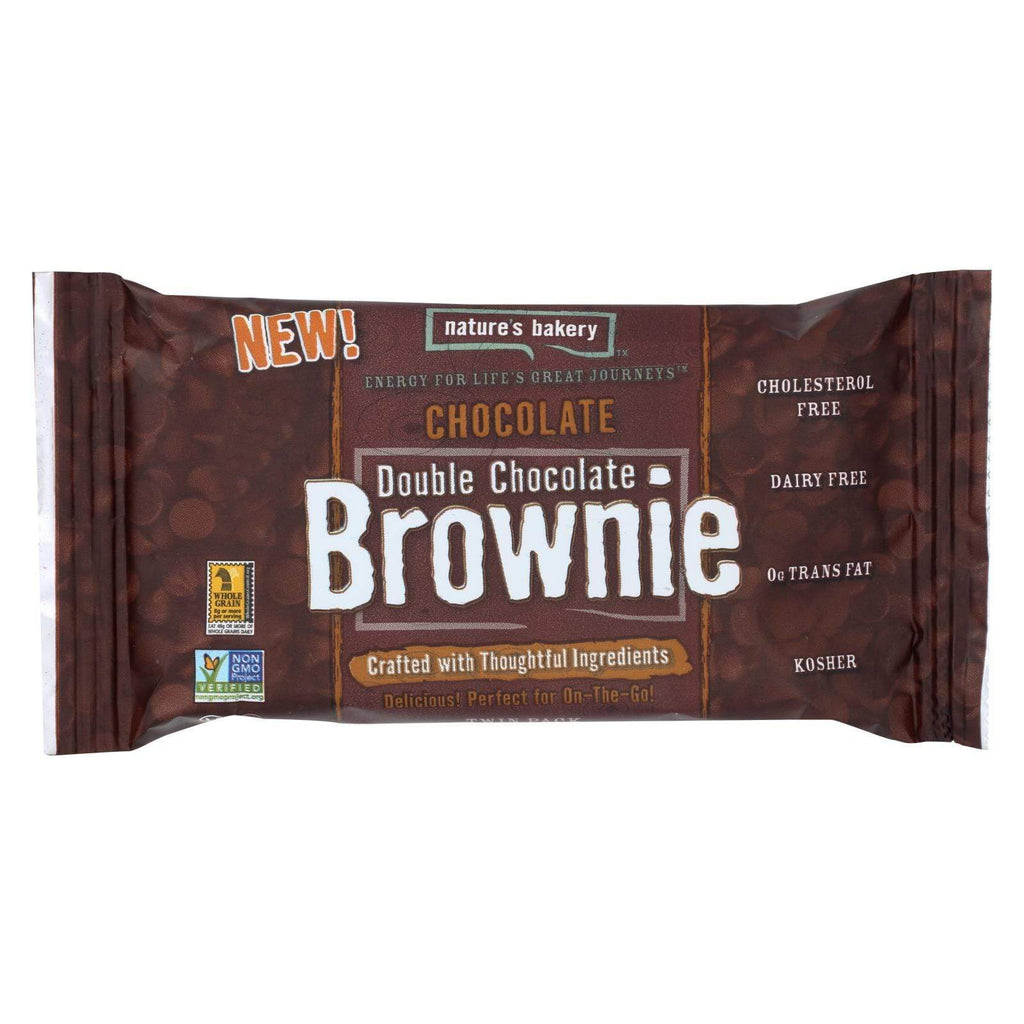 Nature's Bakery Cookies & Pastries Nature's Bakery Double Chocolate Brownies - Chocolate - Case Of 12 - 2 Oz.