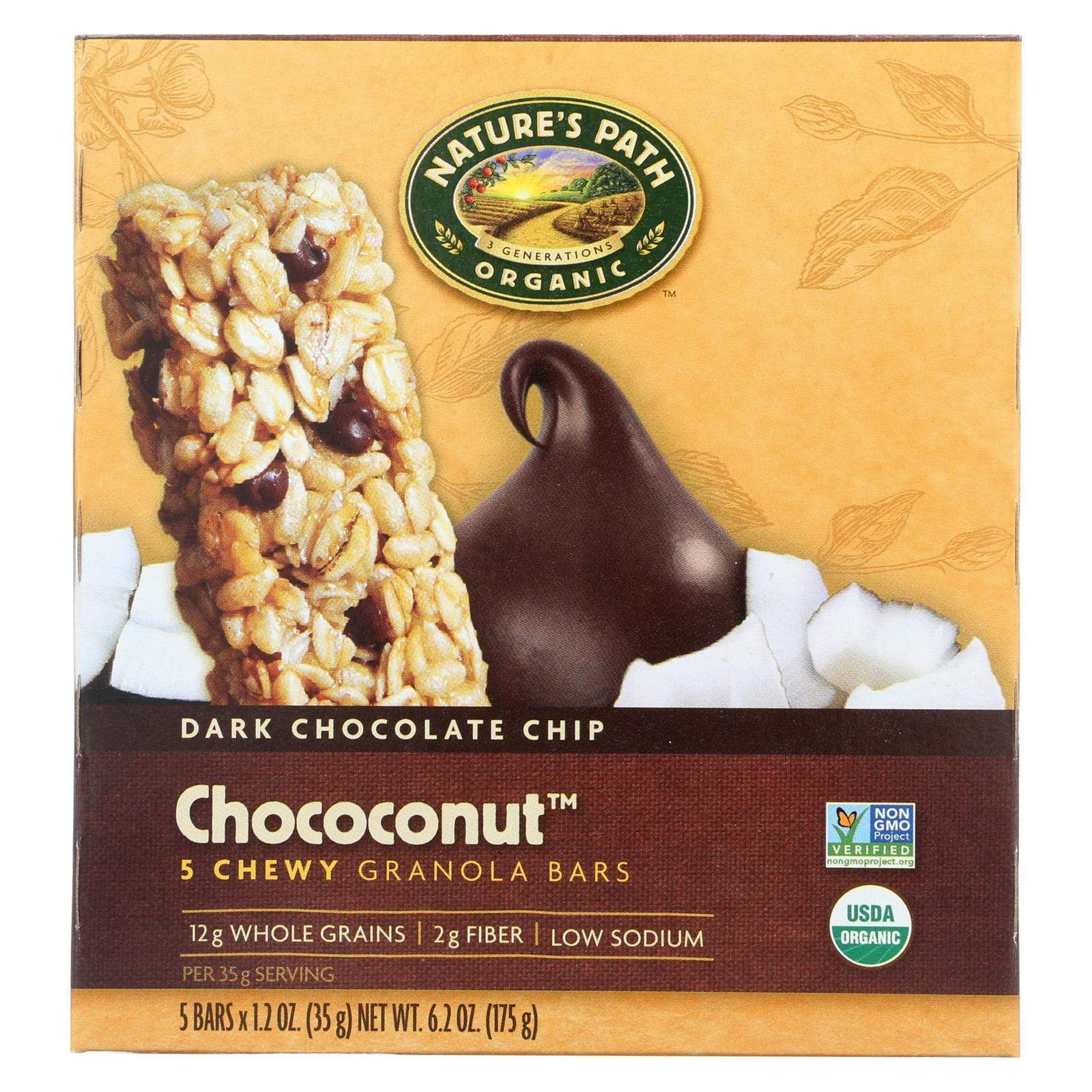 Nature's Path Nuts, Seeds & Granola Nature's Path Organic Granola Bar - Chococonut - Case Of 6 - 6.2 Oz.