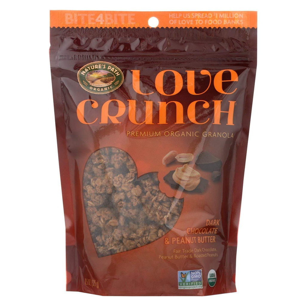 Nature's Path Nuts, Seeds & Granola Nature's Path Organic Love Crunch Granola - Dark Chocolate And Peanut Butter - Case Of 6 - 11.5 Oz.
