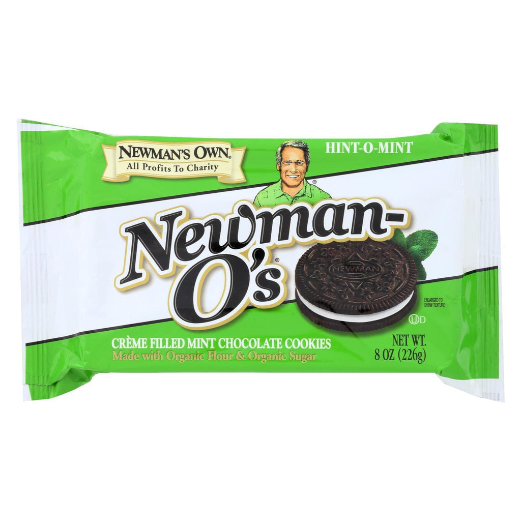 Newman's Own Organics Cookies & Pastries Newman's Own Organics Creme Filled Chocolate Cookies - Hint - O - Mint - Case Of 6 - 8 Oz.