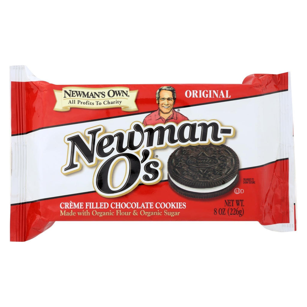 Newman's Own Organics Cookies & Pastries Newman's Own Organics Creme Filled Chocolate Cookies - Vanilla - Case Of 6 - 8 Oz.