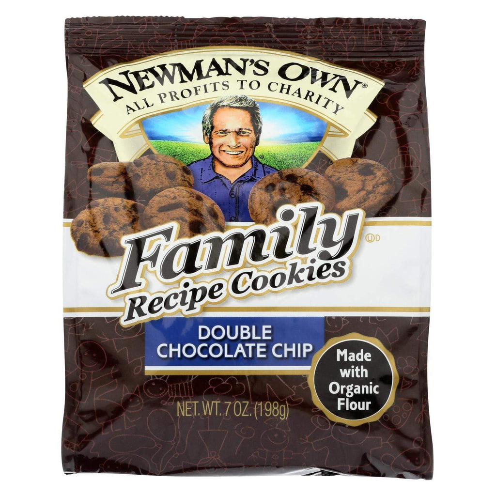 Newman's Own Organics Cookies & Pastries Newman's Own Organics Double Chocolate Chip Cookies - Organic - Case Of 6 - 7 Oz.