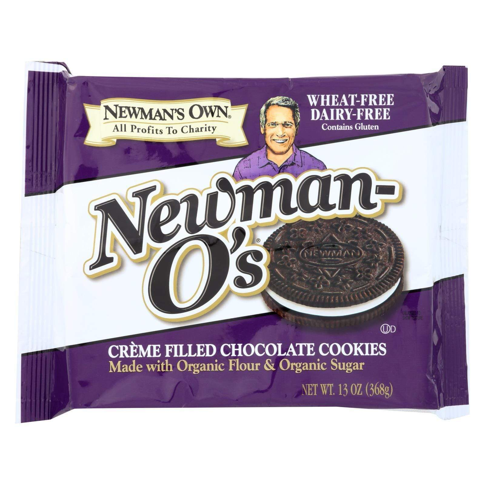 Newman's Own Organics Party Snacks Newman's Own Organics Creme Filled Cookies - Vanilla - Case Of 6 - 13 Oz.