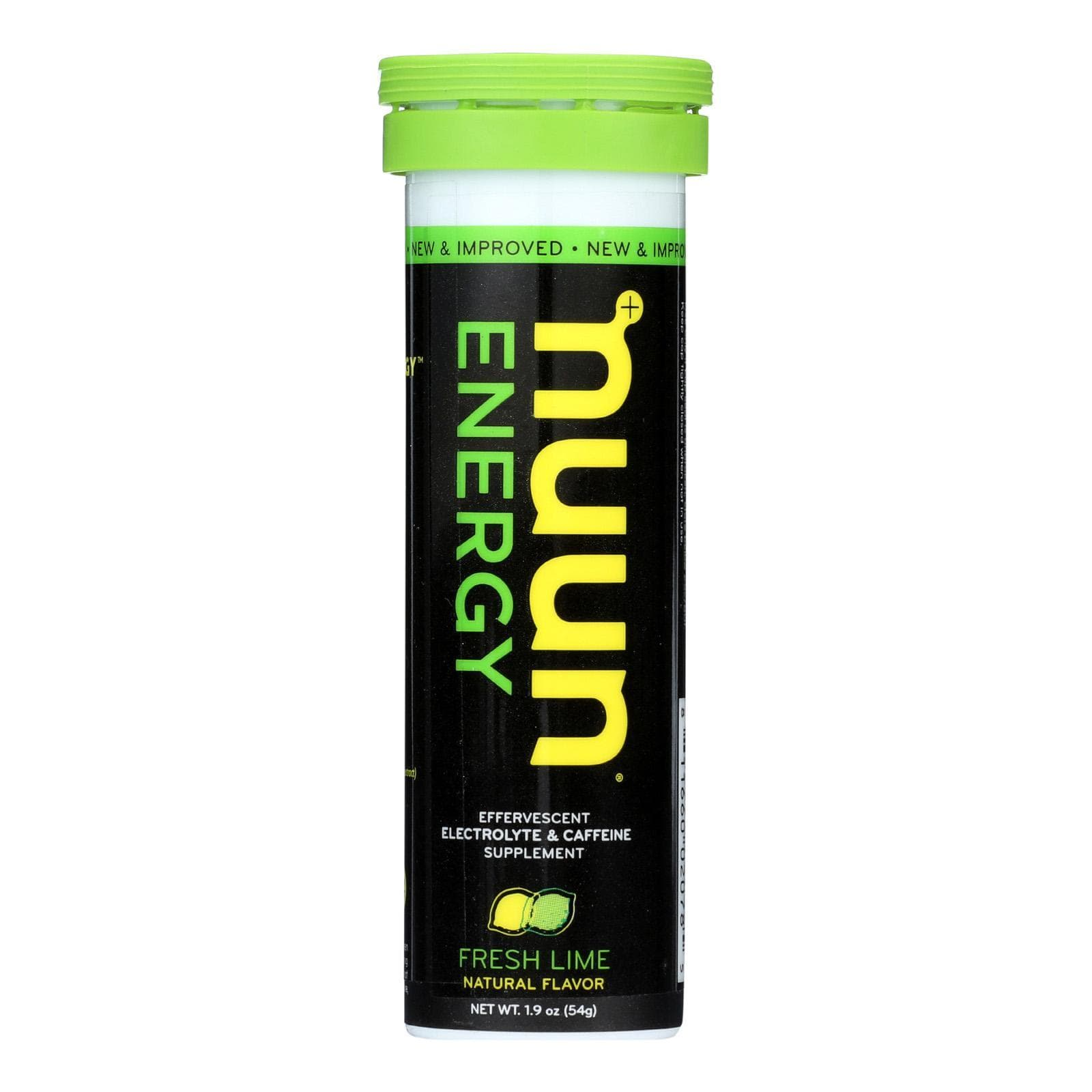 Nuun Hydration Sports And Fitness Nuun Hydration Drink Tab - Energy - Lemon-lime - 10 Tablets - Case Of 8