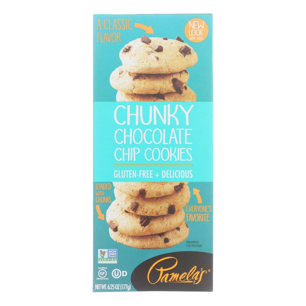 Pamela's Products Cookies & Pastries Pamela's Products - Cookies - Chunky Chocolate Chip - Gluten-free - Case Of 6 - 6.25 Oz.