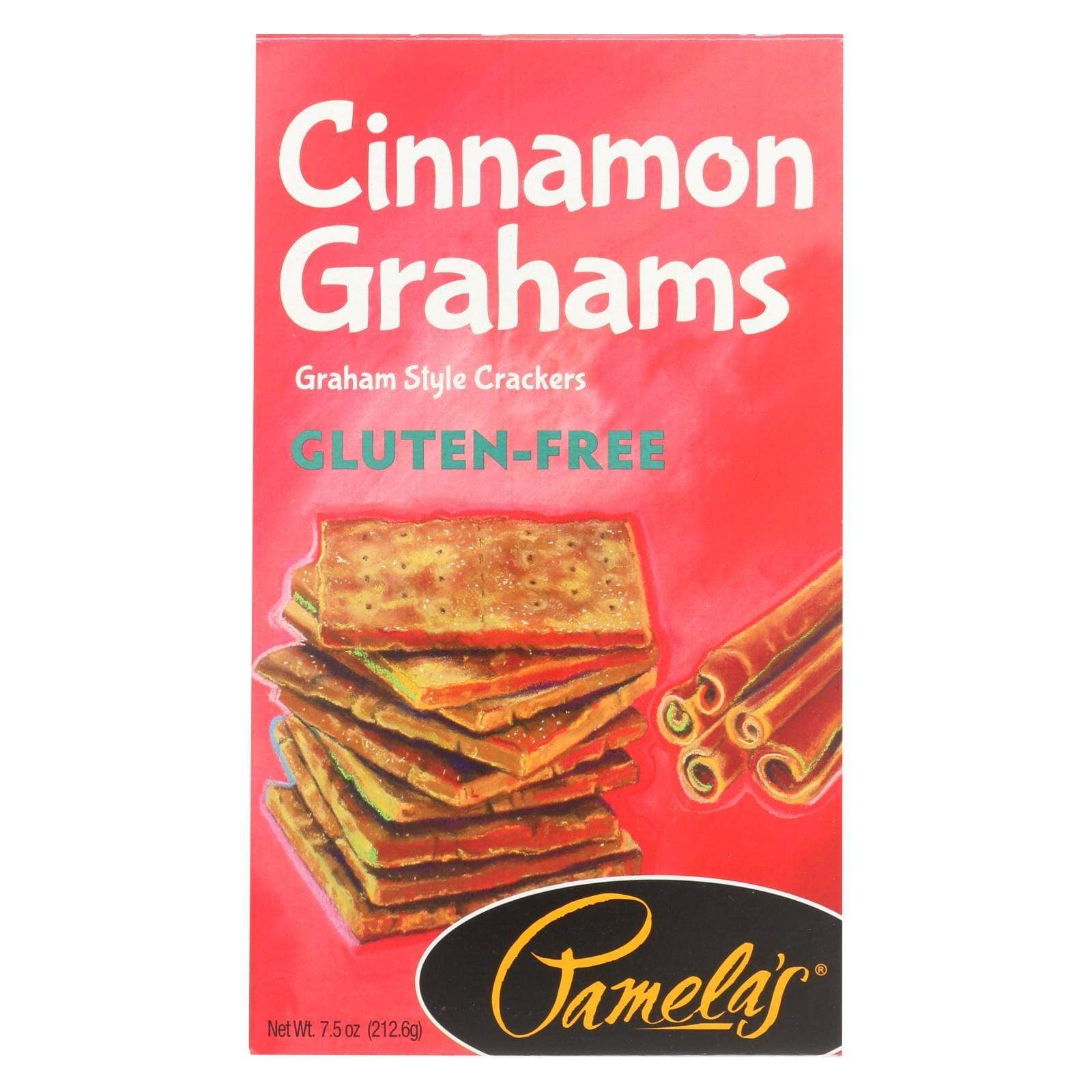 Pamela's Products Cookies & Pastries Pamela's Products Grahams Style Crackers - Cinnamon - Case Of 6 - 7.5 Oz.