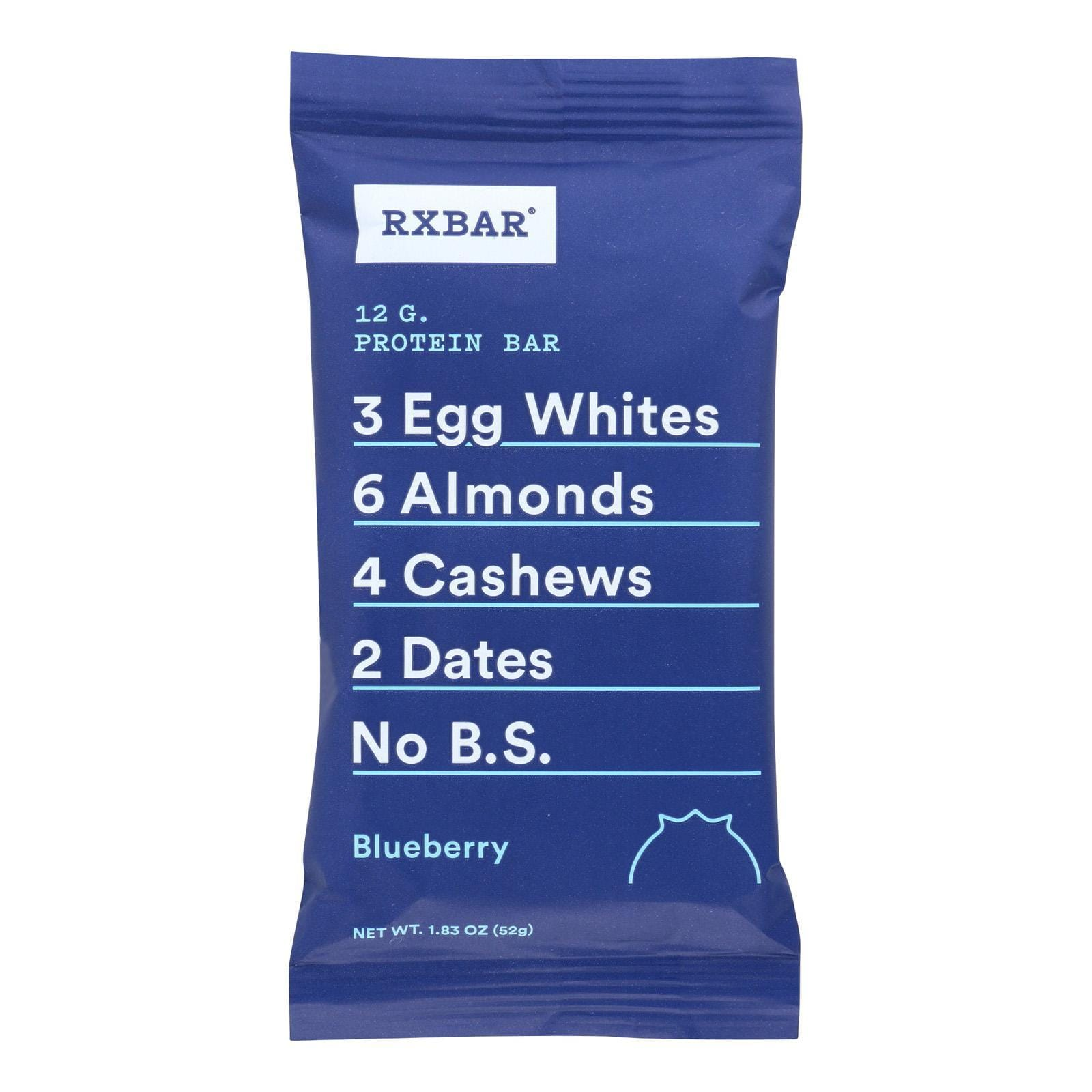 Rxbar Protein Bars, Snacks & Powders Rxbar Bar - Protein - Blueberry - 1.83 Oz - Case Of 12