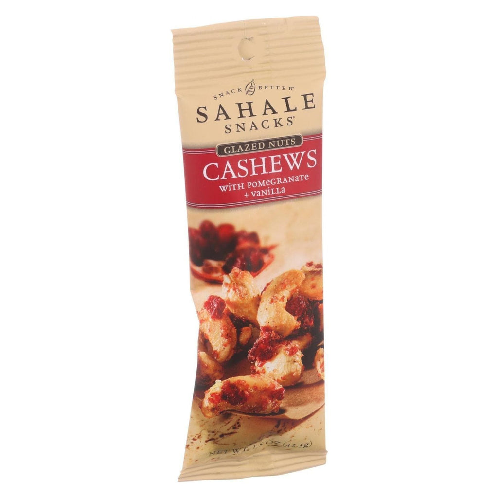Sahale Snacks Nuts, Seeds & Granola Sahale Snacks Glazed Nuts - Cashews With Pomegranate And Vanilla - 1.5 Oz - Case Of 9