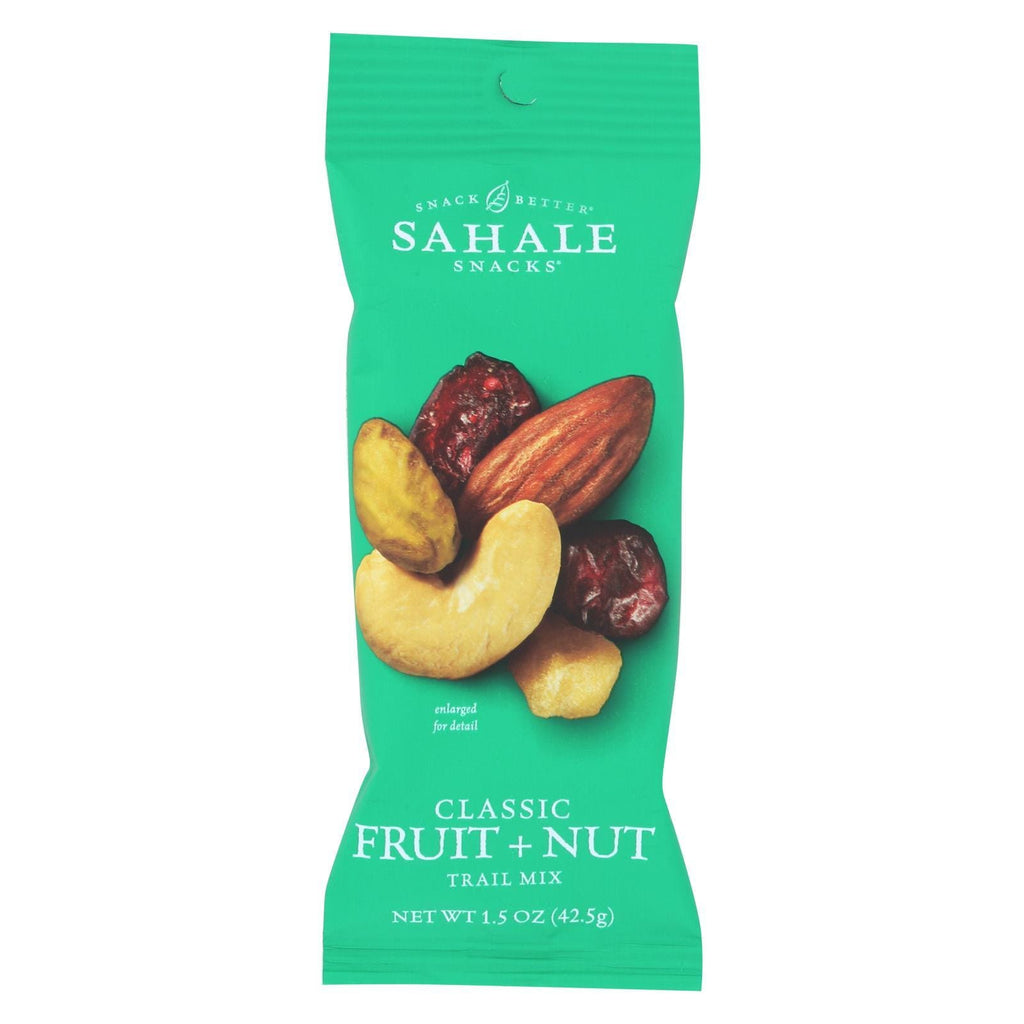 Sahale Snacks Nuts, Seeds & Granola Sahale Snacks Trail Mix - Classic Fruit And Nut Blend - 1.5 Oz - Case Of 9
