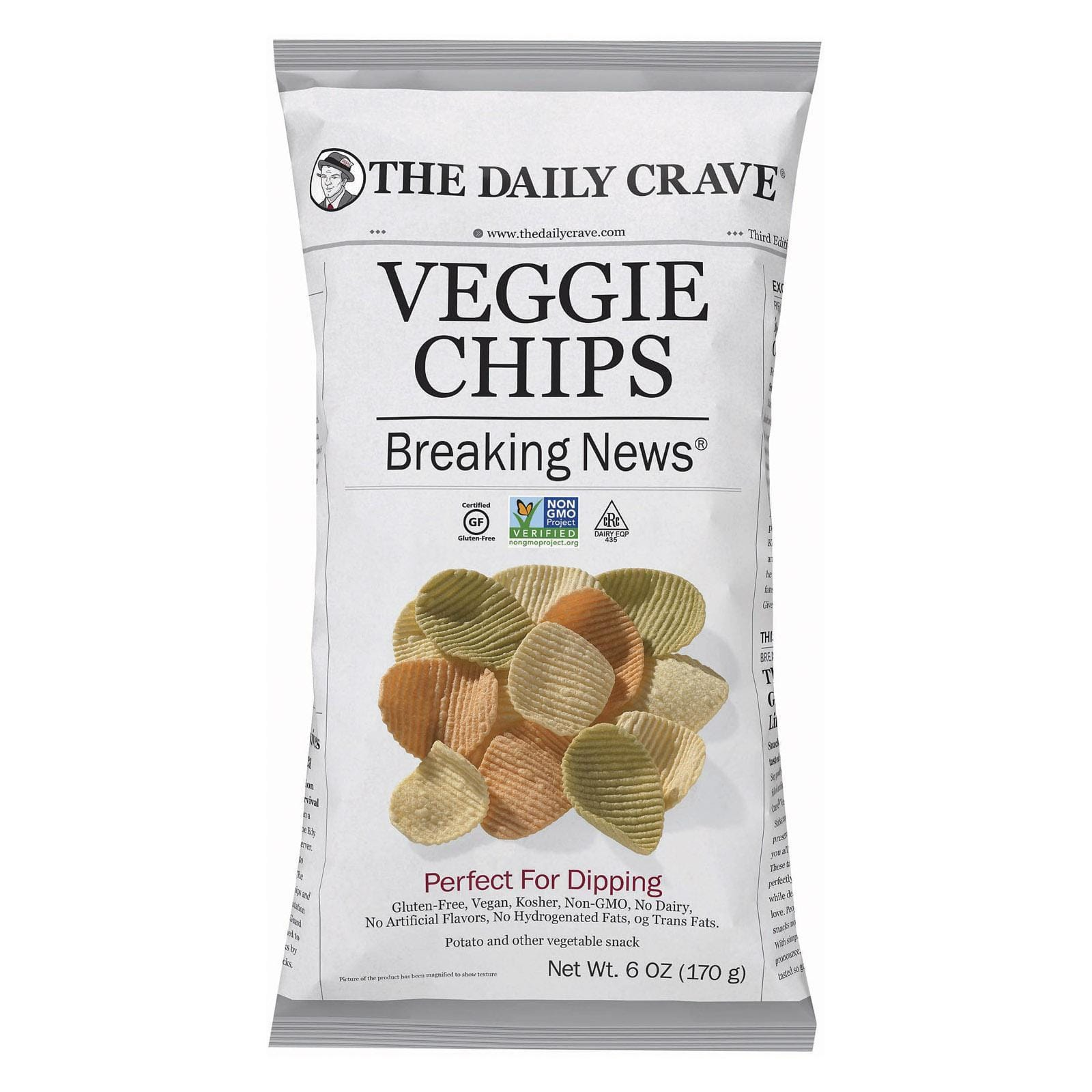 The Daily Crave Chips, Pretzels & Popcorn The Daily Crave Veggie Chips - Perfect For Dipping - Case Of 8 - 6 Oz