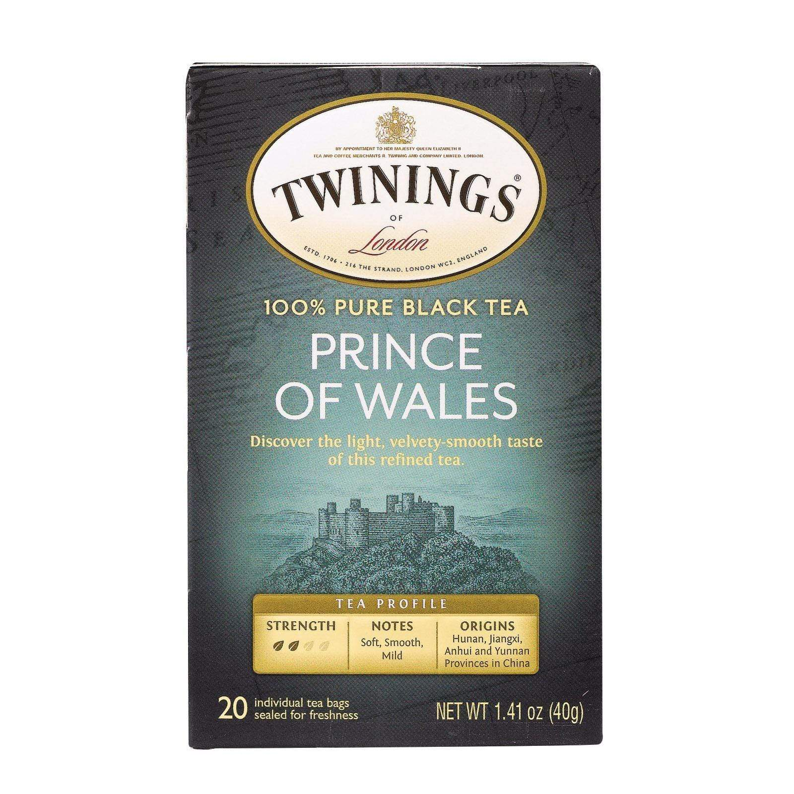 Twinings Tea Teas, Coffee & Energy drinks Twining's Tea Black Tea - Prince Of Wales - Case Of 6 - 20 Bags