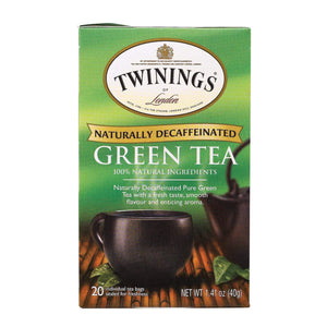 Twinings Tea Teas, Coffee & Energy drinks Twining's Tea Green Tea - Decaffeinated - Case Of 6 - 20 Bags