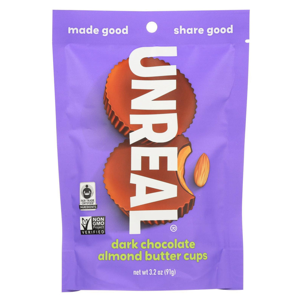 Unreal Chocolate Unreal Dark Chocolate Almond Butter Cups - 6 Bags