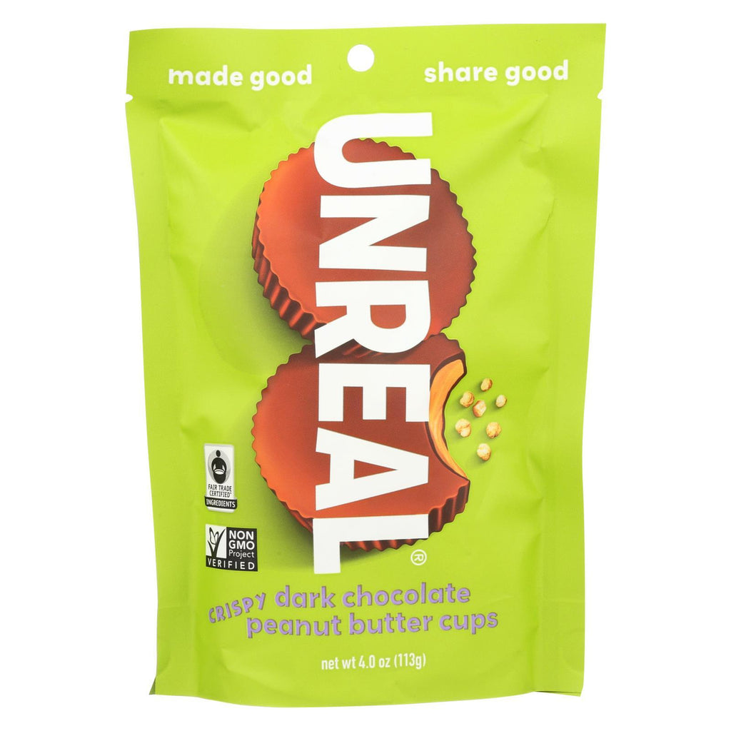 Unreal Chocolate Unreal Dark Chocolate Crispy Quinoa Cups - 6 Bags