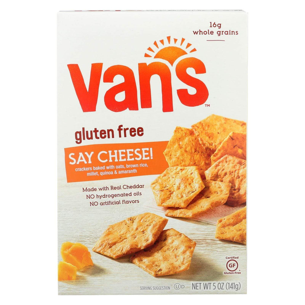 Van's Natural Foods Crackers & Crispbreads Van's Natural Foods Gluten Free Crackers - Say Cheese - Case Of 6 - 5 Oz.