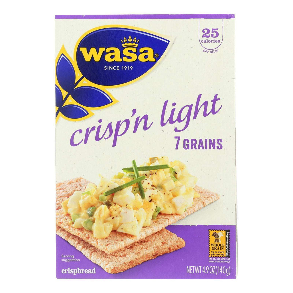 Wasa Crispbread Crackers & Crispbreads Wasa Crispbread Crisp 'n Light 7 Grain Crackerbread - Case Of 10 - 4.9 Oz.