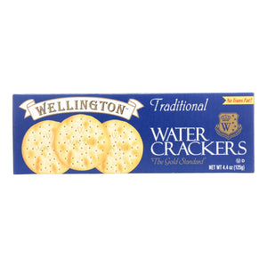 Wellington Crackers & Crispbreads Wellington Traditional - Water Cracker - Case Of 12 - 4.4 Oz.