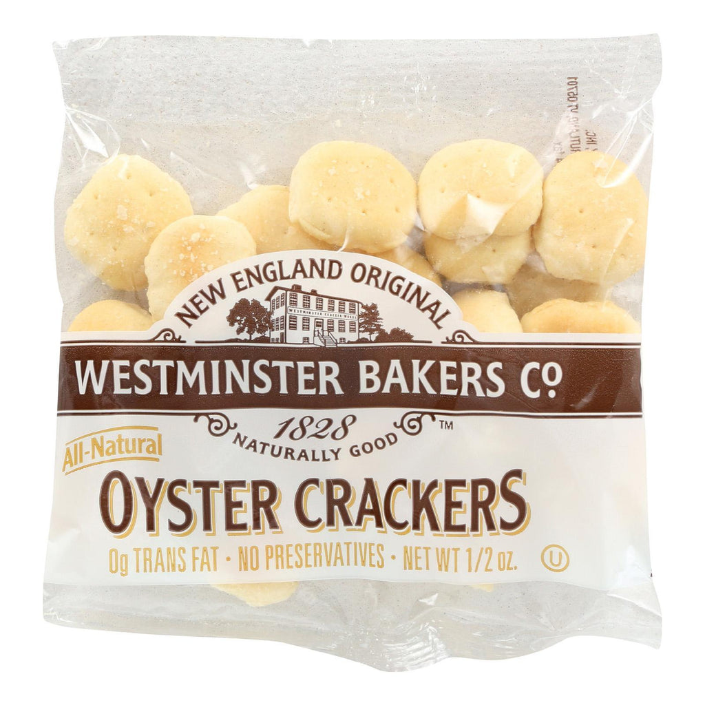 Westminster Cracker Co Crackers & Crispbreads Westminster Cracker Oyster Old Fashioned Crackers - Case Of 150 - 0.5 Oz.