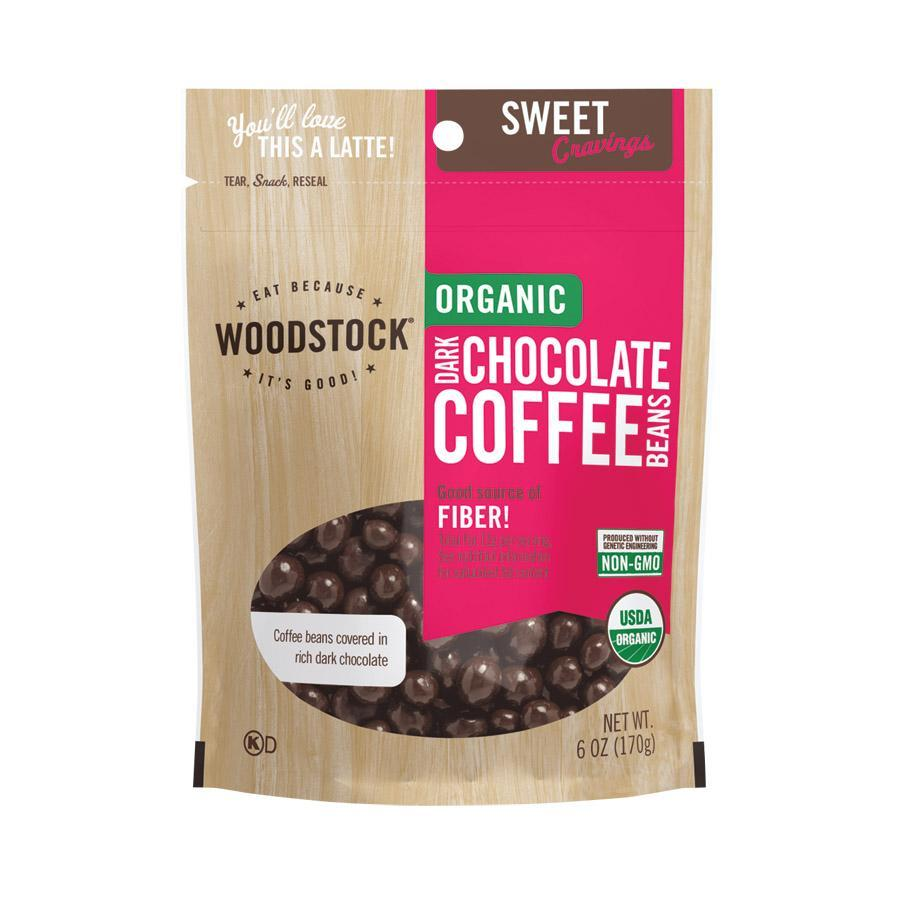 Woodstock Chocolate Woodstock Organic Dark Chocolate Coffee Beans - 6 Oz.