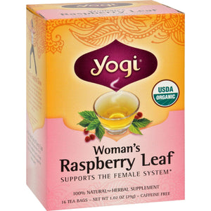 Yogi Teas, Coffee & Energy drinks Yogi Organic Woman's Herbal Tea Raspberry Leaf - 16 Tea Bags - Case Of 6