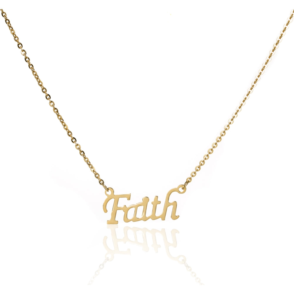 Edforce stainless steel gold faith pendant necklace 20 inch chain edforce stainless steel gold faith pendant necklace 20 inch chain with gold letters aloadofball Image collections