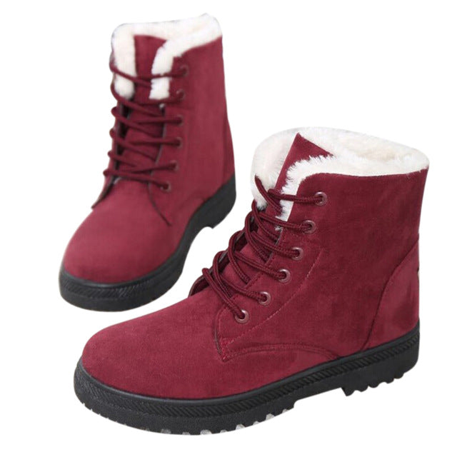 purchase authentic big clearance sale superior materials Snow boots winter ankle boots women shoes plus size shoes 2018 fashion  heels winter boots fashion shoes