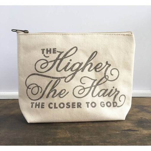 Higher the Hair Zipper Pouch
