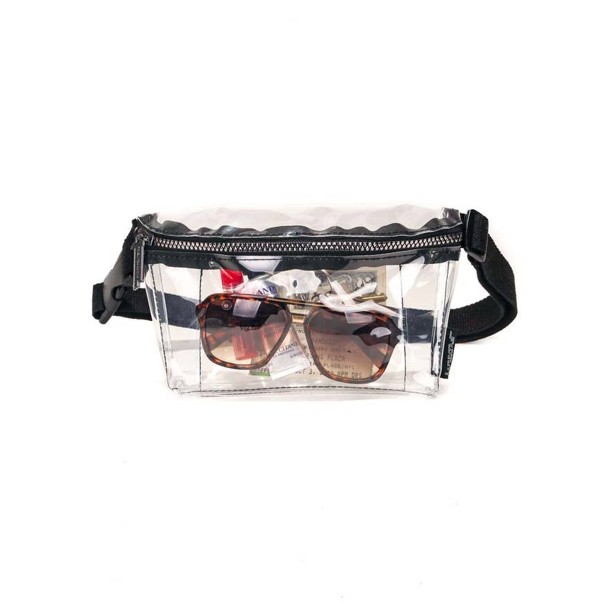 Fydelity Crystal Clear XL Ultra Slim Fanny Pack