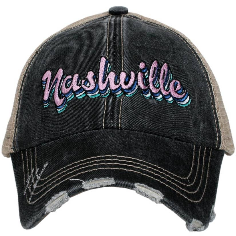 Distressed Nashville Trucker Hat