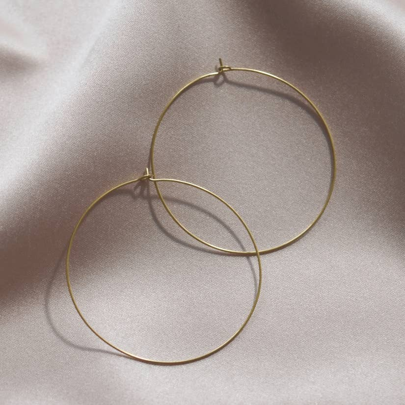Mashallah Circle Hoop Earrings - Large