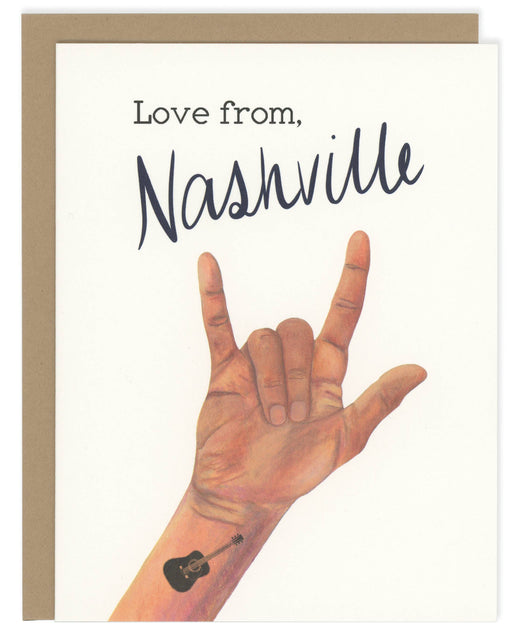 Love From Nashville Greeting Card