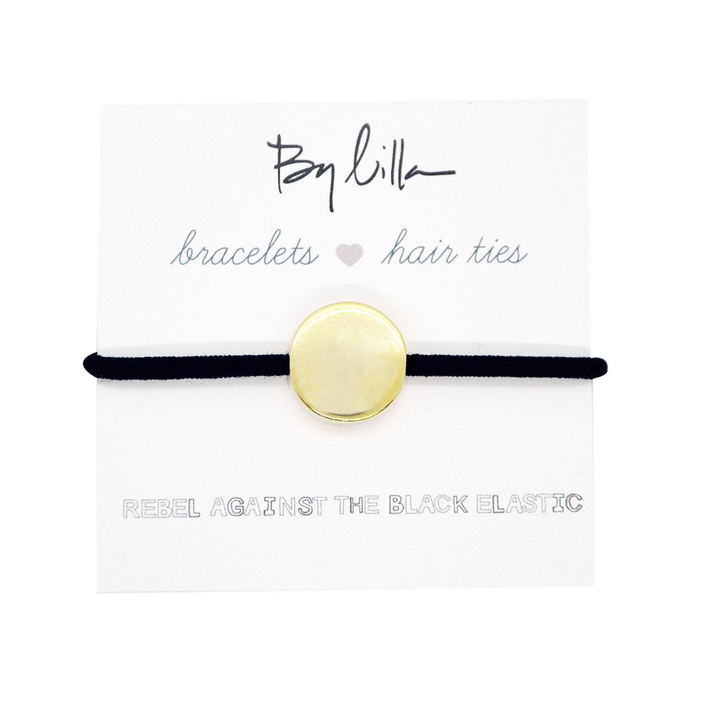 MEDALLION BLACK Hair Elastic / Bracelet