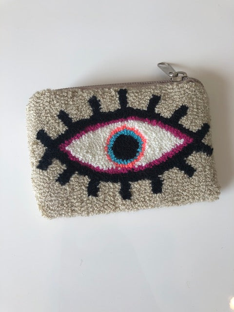Le Pom Pom Evil Eye Coin Purses