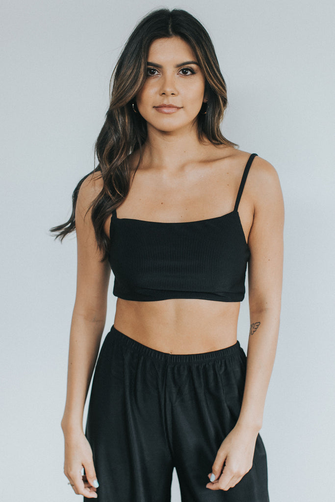 POWER CROP - Black Rib